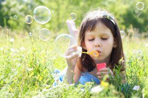 burbujas de jabon pequeñas