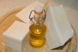 jabón con aceite usado